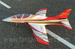 Mini Avanti S ARF Sportjet with retract, without EDF and electronic (white/red/gold)