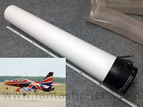 BH Viper-Jet XL, Polyester material silver&white high gloss to build an thrust tube for EDF models