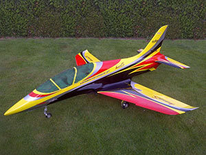 Mini Avanti S ARF Sportjet with retract, without EDF and electronic (yellow/red/black)
